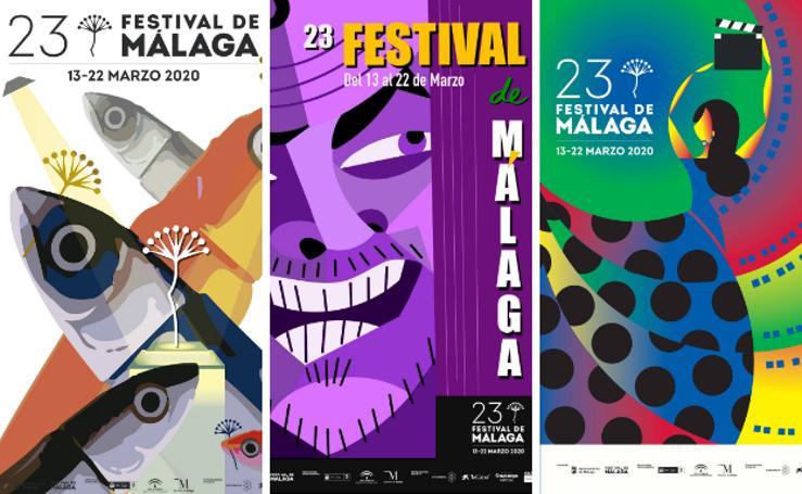 Todas las obras que optan al cartel oficial del 23 Festival de Cine de Málaga