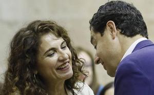Bronca de Moreno y Montero por los dineros del Estado para las comunidades