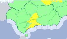 Activan el aviso amarillo en Málaga por fuertes lluvias y tormentas