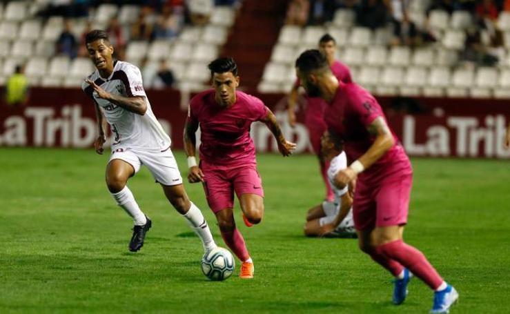 Las imágenes del Albacete 1-0 Málaga