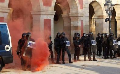 Los Mossos utilizarán gas pimienta en las manifestaciones