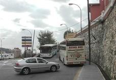 Los autobuses de turistas no quieren subir a Gibralfaro