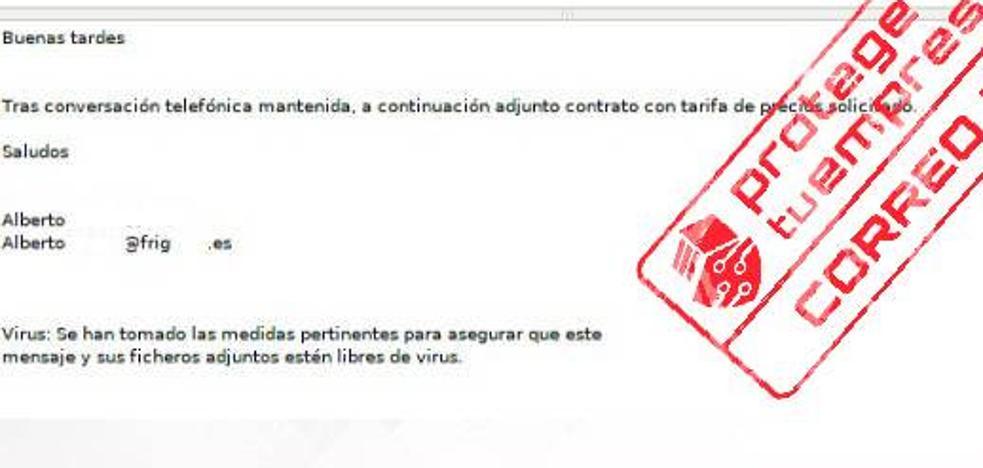 Alertan de una oleada de correos electrónicos con malware dirigidos a empleados y autónomos
