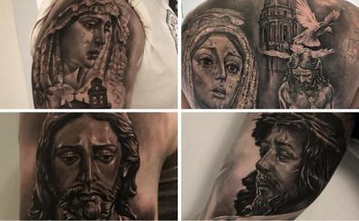Un malagueño especialista en tatuajes cofrades