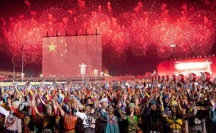 Así fue la celebración del 70 aniversario de la fundación de la República Popular China