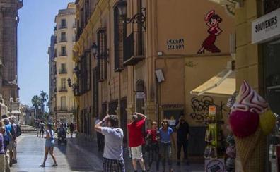 El último baile de la flamenca de Invader en Málaga