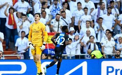 El Bernabéu y la Champions empequeñecen a Courtois