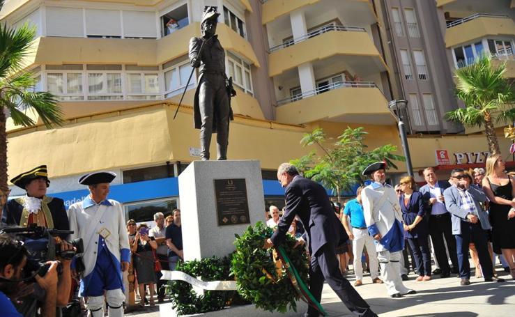 Las fotos de la inauguración de la estatua de Reding en La Malagueta
