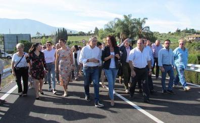 El nuevo puente de la carretera de Villafranco mejora la comunicación en el Guadalhorce