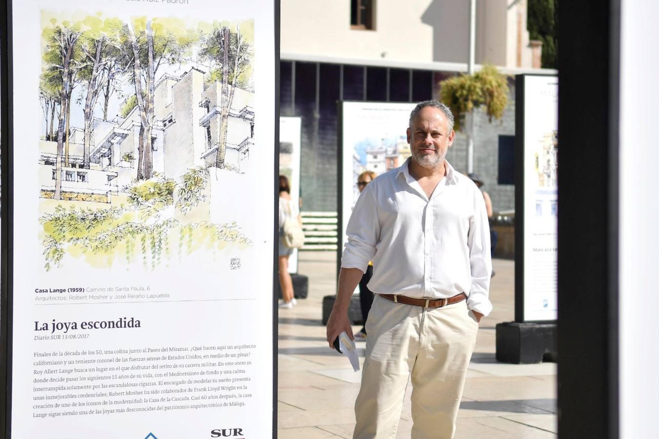 Luis Ruiz Padrón abre la Semana de la Arquitectura con una exposición de dibujos en calle Alcazabilla