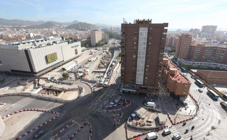 Los coches vuelven a circular en sentido sur por la Alameda de Colón de Málaga