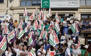 CC OO exige al SAS que haga los 300 contratos no renovados en Málaga para que no afecte a la asistencia