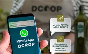 Dcoop crea un canal de comunicación vía Whatsapp con sus socios