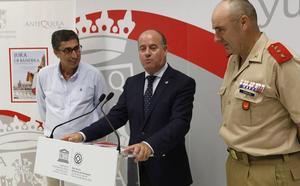 Así será la jura de bandera civil con los Regulares en Antequera