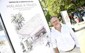 Los arquitectos Ruiz Padrón, Sánchez la Chica y García Bujalance, en el Aula de SUR