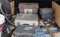 Cuatro detenidos en Málaga por el robo de herramientas en dos naves valoradas en 20.000 euros