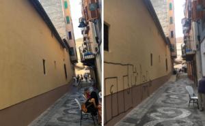 La pintura de la Iglesia de Santiago no dura ni un día: ya han vuelto los grafitis