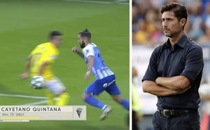 Víctor se quejó del VAR por el segundo gol del Cádiz