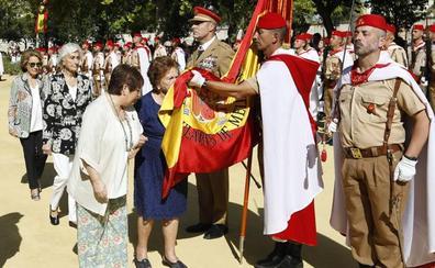 El cuarto centenario del Socorro se hace a ritmo de jura de bandera con los Regulares en Antequera