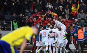Rodrigo Moreno guía a una España inquietante a la Eurocopa