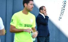 Richard Shaheen, en el entrenamiento del Málaga