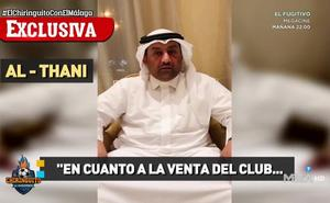 Al Thani: «No está en mi cabeza vender el Málaga»