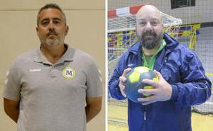 Los entrenadores del Balonmano Ciudad de Málaga y del Conservas Alsur, cara a cara