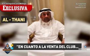 Al-Thani: «No está en mi cabeza vender el 1% u otra parte del club»