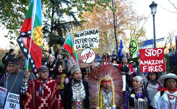 La movilización por la 'Marcha por el Clima', en imágenes