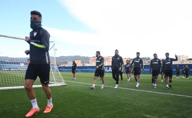 El entrenamiento del Málaga este jueves 12 de diciembre, en imágenes