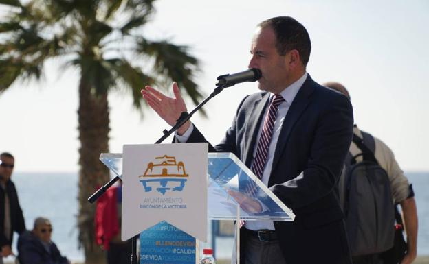 El director de SUR, Manuel Castillo, durante su intervención en el acto.