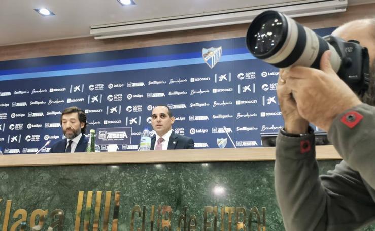 Rueda de prensa de Richard Shaheen, director general del Málaga, tras el caso Víctor