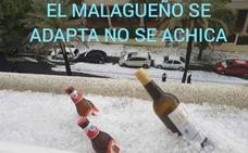 La granizada de Málaga, con humor: los 'memes' del temporal