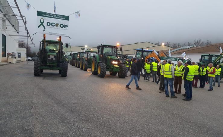 Los agricultores malagueños protestan con una tractorada en Antequera