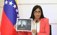 Delcy Rodríguez acusa a Guaidó de perseguir sus intereses y de ser un «traidor a la patria»