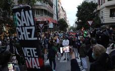 La Policía disuade las protestas callejeras en la 'milla de oro' de Madrid