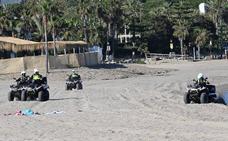 Marbella refuerza la vigilancia en las playas ante una previsible avalancha el fin de semana