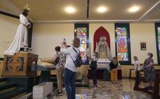 Primera visita al Cautivo y la Virgen de la Trinidad: «Esto es un consuelo para los que tenemos fe»
