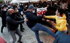 Incidentes en Pamplona en una concentración de apoyo del etarra Patxi Ruiz
