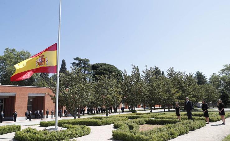 España comienza 10 días de luto nacional, en imágenes