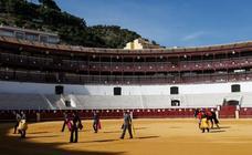 La plaza de toros de La Malagueta celebra su primer festejo bajo el estado de alarma