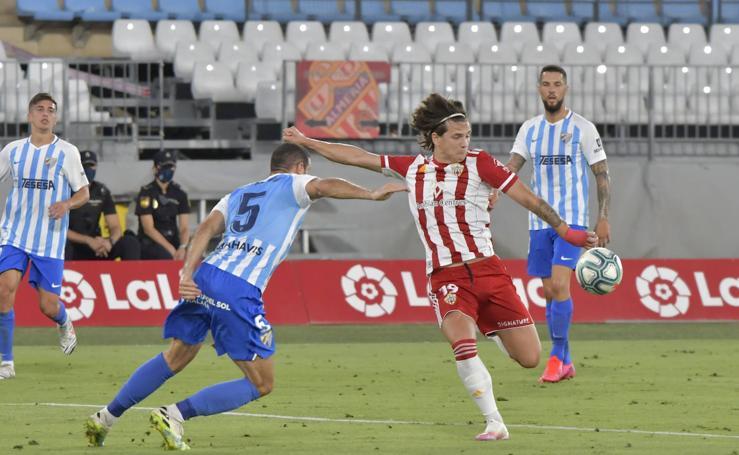 El Almería-Málaga, en imágenes