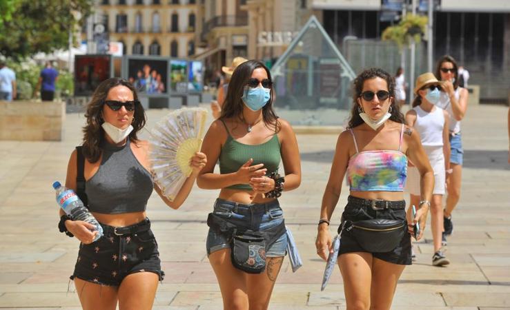 Los termómetros superan los 40ºC en Málaga, en aviso rojo por calor