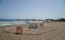 Incubadora de arena en la playa de Marbella