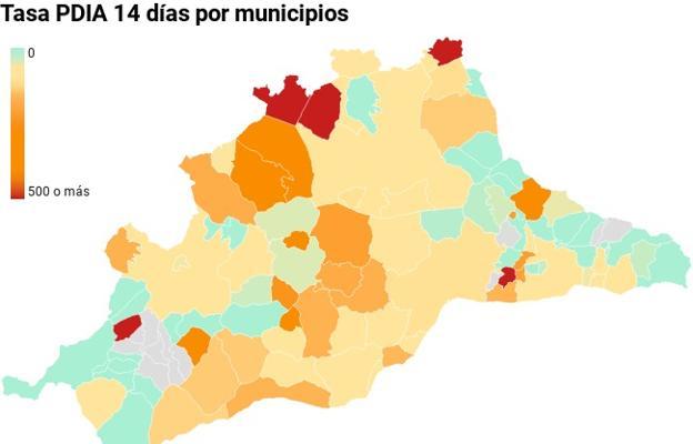 Situación de los contagios en todos los municipios de Málaga