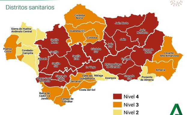 Restricciones en Andalucía: estas son las medidas para cada municipio según su nivel de alerta