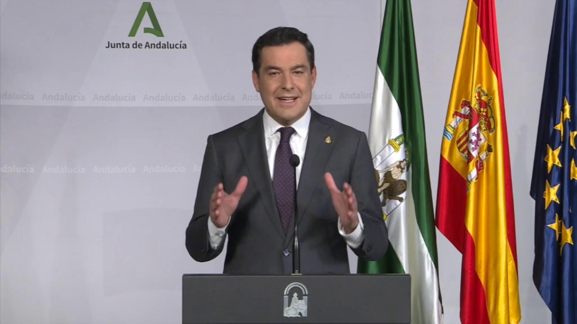 Nuevas medidas en Andalucía: Comparecencia completa del presidente de la Junta, Juanma Moreno