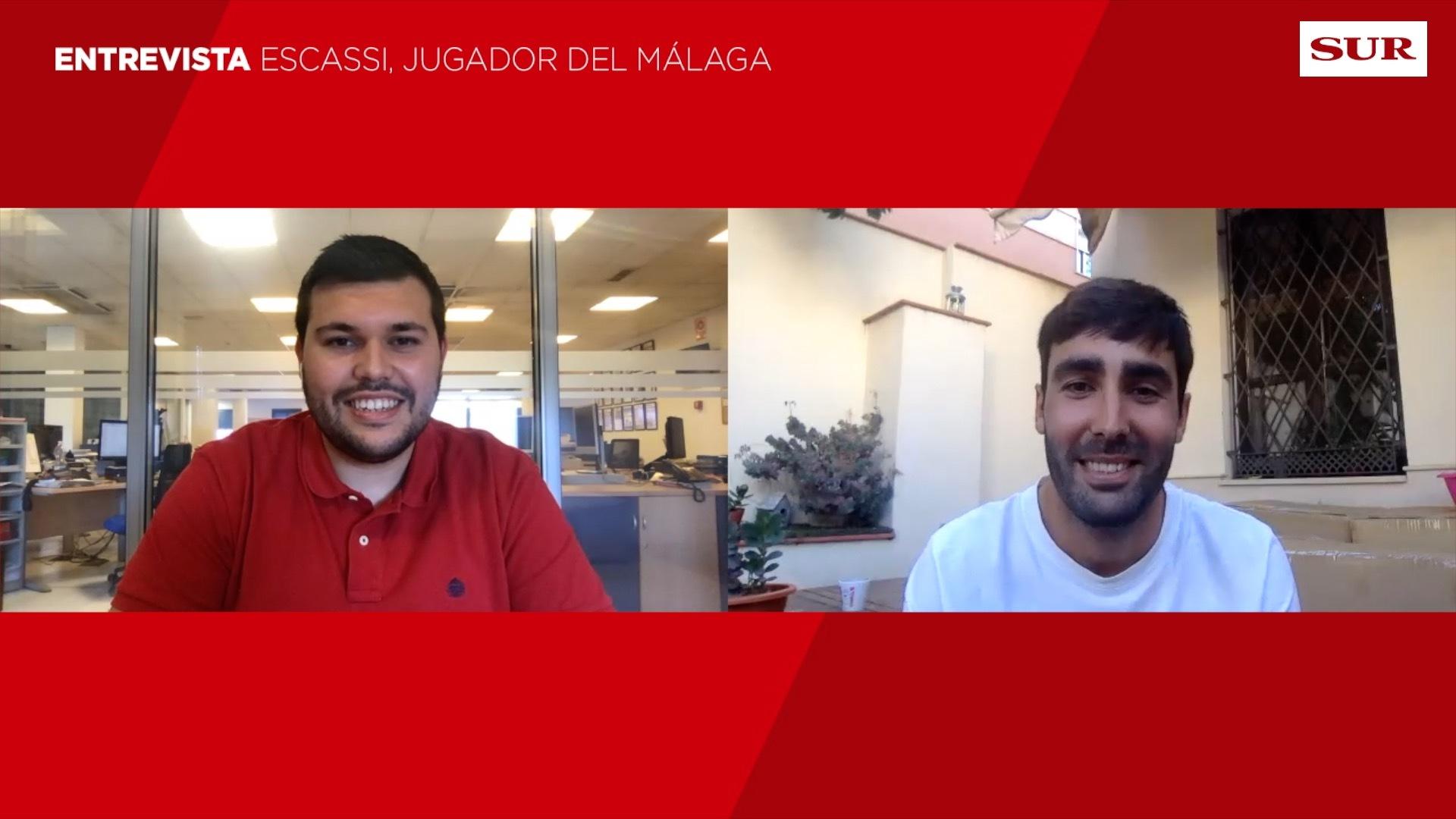 Entrevista a Escassi, jugador del Málaga