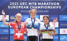 Natalia Fischer, oro en su debut en el Europeo de Maratón de MTB