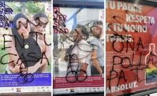 Aparecen pintadas homófobas en varios carteles LGTB de Torremolinos